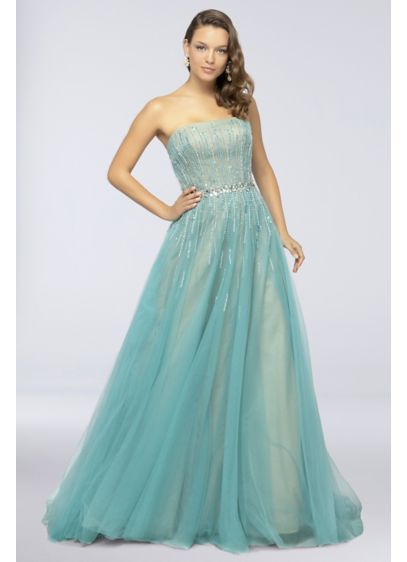 Long Ballgown Strapless Formal Dresses Dress - Terani Couture