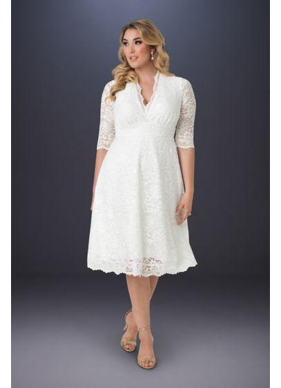 Short A-Line Casual Wedding Dress - Kiyonna