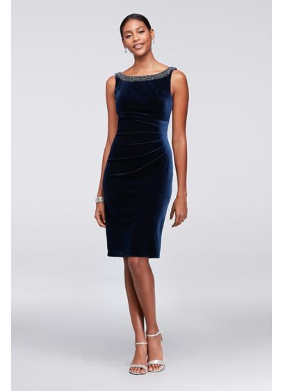 Short Sheath Tank Cocktail and Party Dress - Alex Evenings