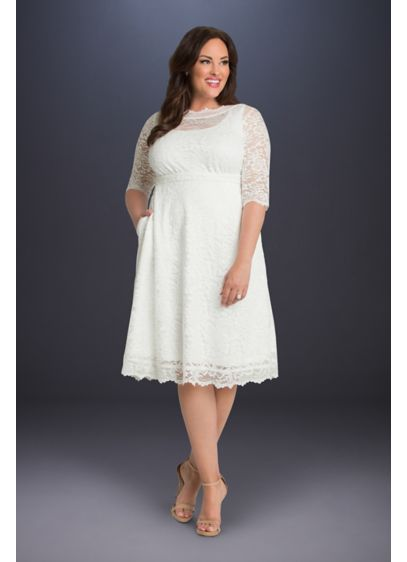 Pretty In Lace Plus Size Wedding Dress