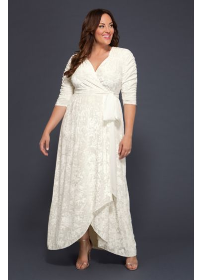 Vie En Velvet Plus Size Wrap Wedding Dress
