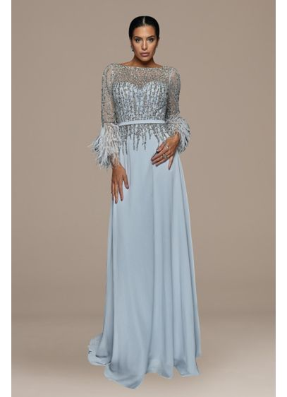 Long 0 3/4 Sleeves Formal Dresses Dress - Terani Couture