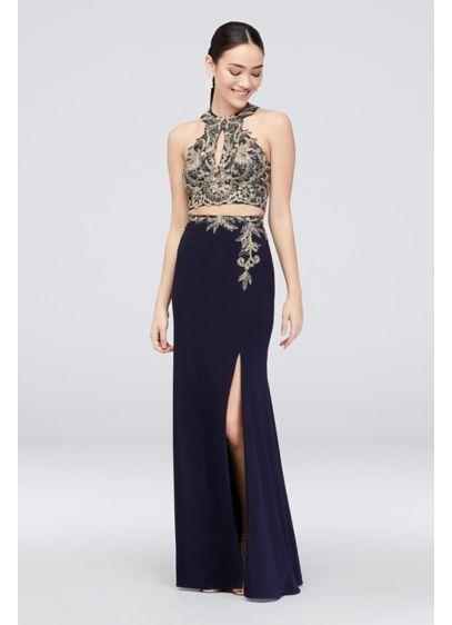 Long Sheath Halter Cocktail and Party Dress - Xscape 15d72f46c