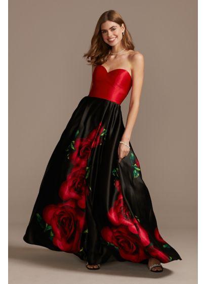 Long Black Structured Blondie Nites Bridesmaid Dress
