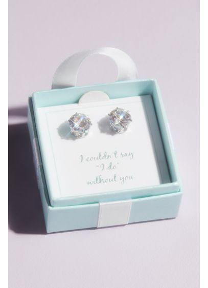Say I Do Cubic Zirconia Earrings with Gift Box - Wedding Gifts & Decorations