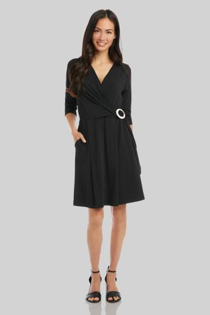 Short 3/4 Sleeves Dress - Karen Kane