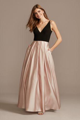 Long Ballgown Spaghetti Strap Dress - Blondie Nites
