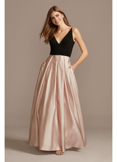 Long Ballgown Spaghetti Strap Formal Dresses Dress - Blondie Nites