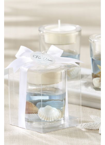 Seashell Gel Tea Light Holders - Wedding Gifts & Decorations