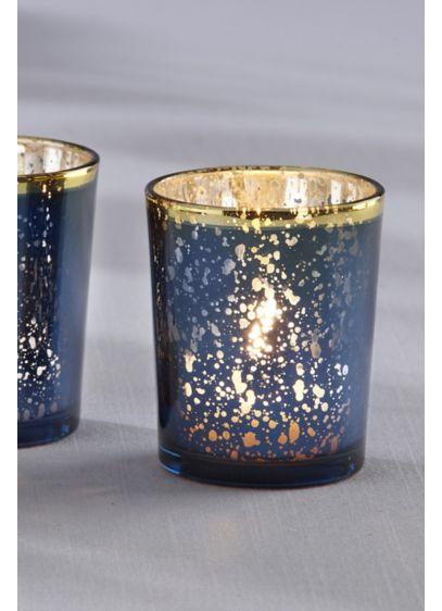 Mercury Glass Tea Light Holders - Set of eight Glass 2.5