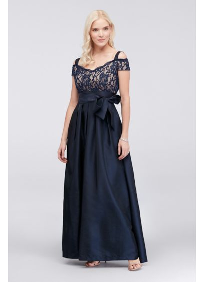 Long Ballgown Off the Shoulder Cocktail and Party Dress - RM Richards