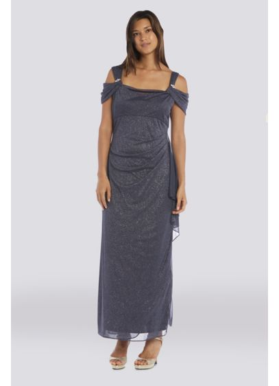 Long Sheath Off the Shoulder Cocktail and Party Dress - RM Richards