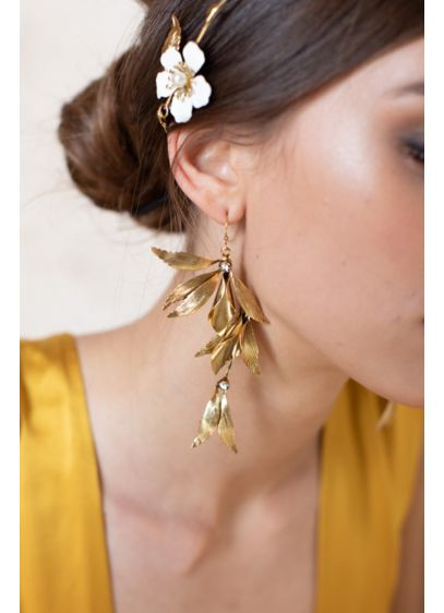 Grecian High Drama Wing Earrings - For the bride who loves a statement piece,