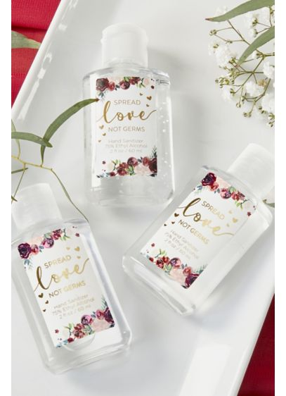 Spread Love Not Germs Hand Sanitizer Set - Wedding Gifts & Decorations
