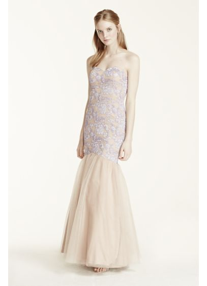 Long Mermaid/ Trumpet Strapless Cocktail and Party Dress - Hailey by Adrianna Papell