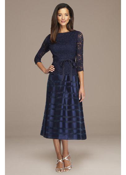 Tea Length A-Line 3/4 Sleeves Formal Dresses Dress - Alex Evenings