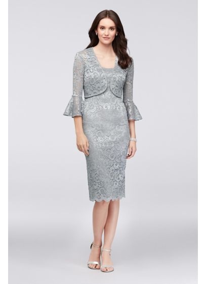 Short Sheath Jacket Cocktail and Party Dress -