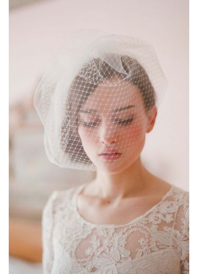 Double Layer Full Birdcage Veil - Wedding Accessories