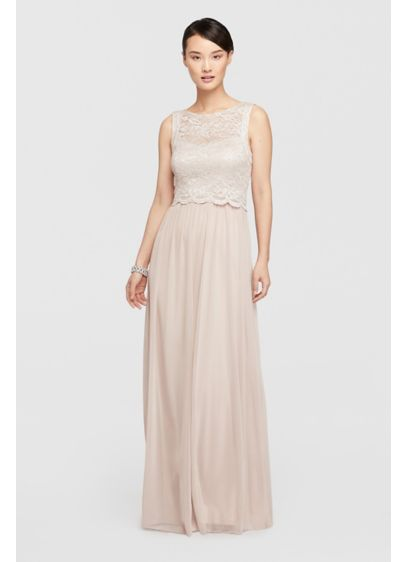 Long Ivory Soft & Flowy Nightway Bridesmaid Dress