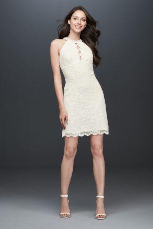 Perfect Short Sheath Beach Wedding Dress   DB Studio