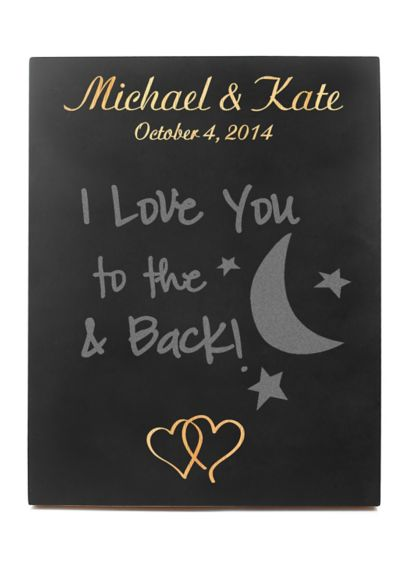 Custom Double Heart Wedding Chalkboard Sign - Designed to showcase a signature cocktail or special