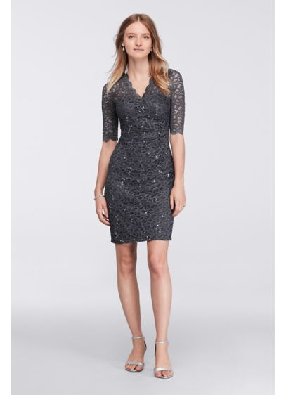 Short Sheath Elbow Sleeves Cocktail and Party Dress - Nightway