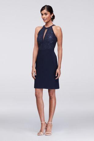 Short Formal Halter Dress