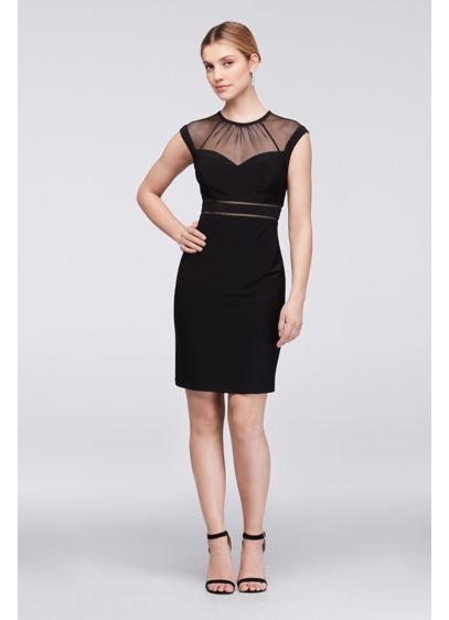 Short Sheath Cap Sleeves Cocktail and Party Dress - Morgan and Co