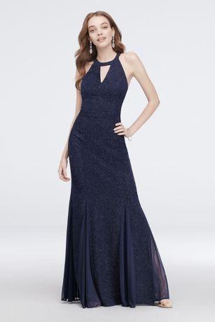 Long Mermaid / Trumpet Halter Dress - Morgan and Co