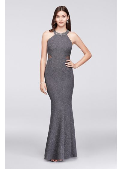 Long Mermaid/ Trumpet Halter Cocktail and Party Dress - Morgan and Co