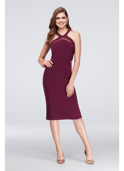 Long Sheath Halter Cocktail and Party Dress - Nightway