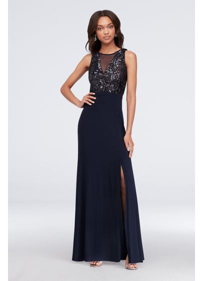Long Sheath Tank Cocktail and Party Dress - Morgan and Co
