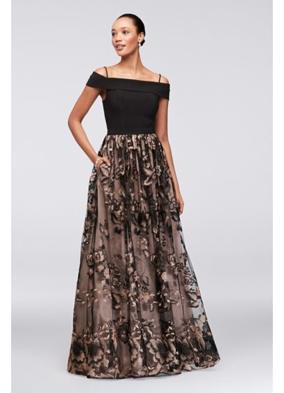 Long Ballgown Off the Shoulder Cocktail and Party Dress - Nightway