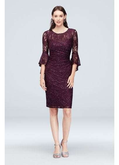 Short Sheath 3/4 Sleeves Cocktail and Party Dress - Nightway
