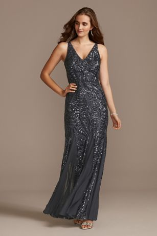 Long Mermaid/Trumpet Tank Dress - Nightway
