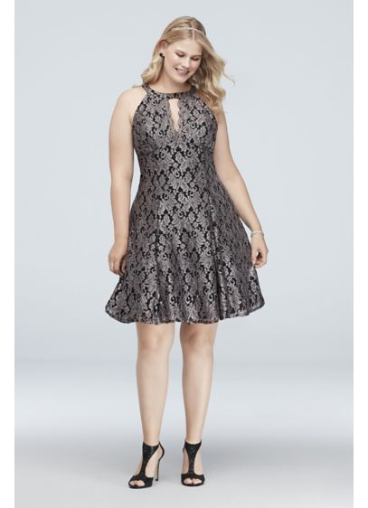 Short Ballgown Halter Cocktail and Party Dress - Morgan and Co