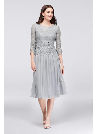 Lace And Tulle Petite Popover Sheath Dress Davids Bridal