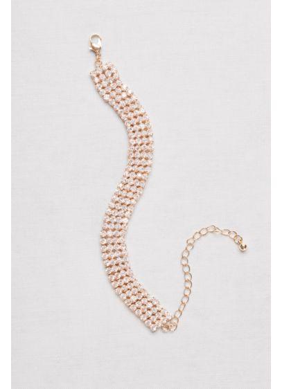 Rhinestone Four-Row Bracelet - Wedding Accessories
