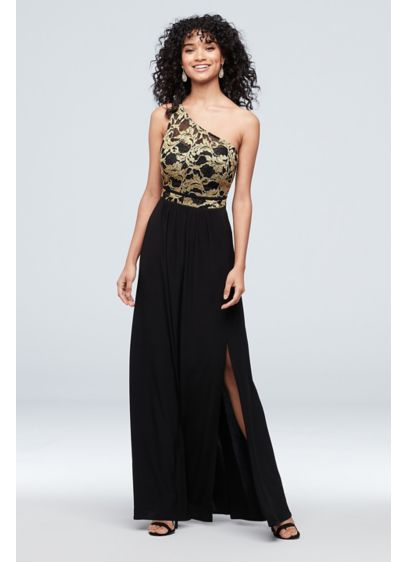 Long Sheath One Shoulder Cocktail and Party Dress - Morgan and Co