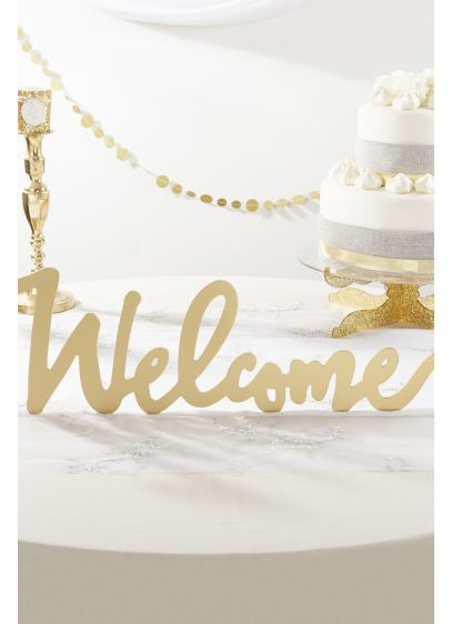 Gold Welcome Table Sign - Wedding Gifts & Decorations