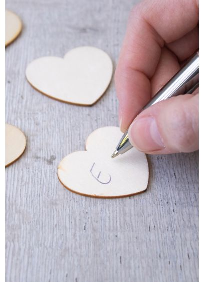 Wooden Hearts for Guest Book Alternative - Wedding Gifts & Decorations