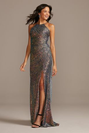 Long Sheath Halter Dress - Night Studio
