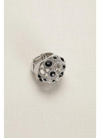 David's Bridal Black (Dome Crystal Stretch Ring)