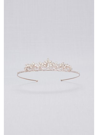 David's Bridal Pink (Rose Gold Crystal Flower Girl Tiara)