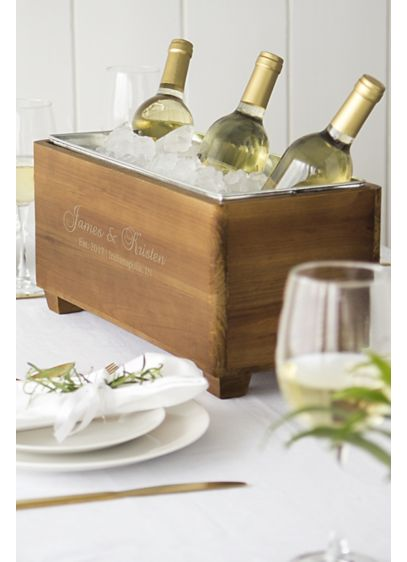 Personalized Wooden Wine Trough - Wedding Gifts & Decorations