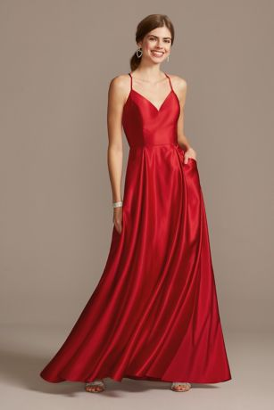 Long Ballgown Spaghetti Strap Dress - Blondie Nites