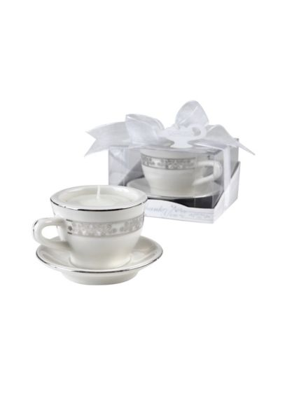 Miniature Porcelain Teacup Tealight Holders - Perfect for a tea party-themed bridal shower, these