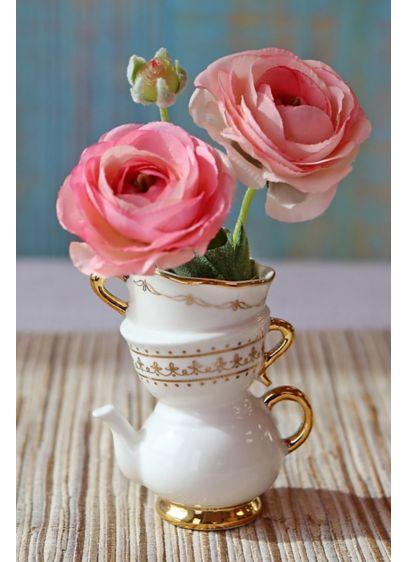 Tea Time Whimsy Ceramic Bud Vase Set - Wedding Gifts & Decorations