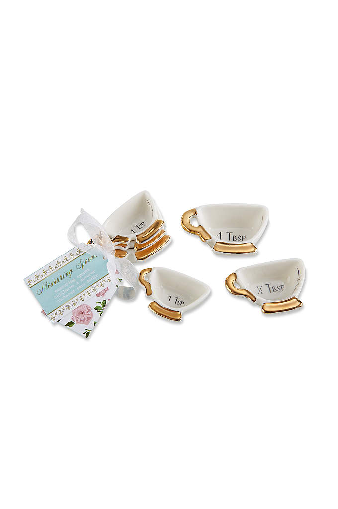 Tea Time Whimsy Ceramic Teacup Measuring Spoons - The Tea Time Whimsy Ceramic Teacup Measuring Spoons