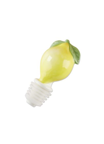 Ceramic Lemon Bottle Stopper Set of 6 - Nothing says freshness quite like lemon. Now, you